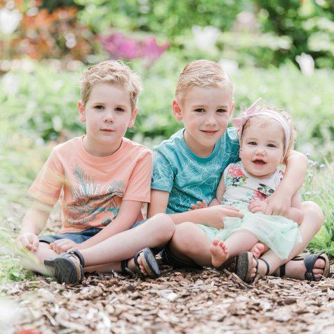 Voortuin familie fotoshoot